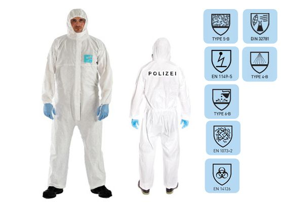 Tatort-Schutzanzug SOCO PLUS