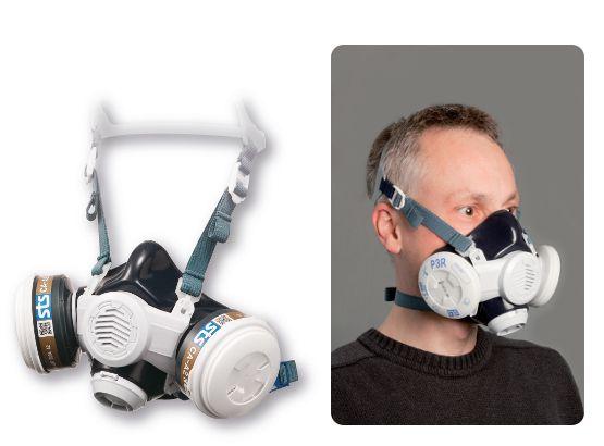 Atemschutz-Halbmaske Silikon
